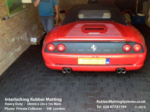 Interlocking rubber matting - driveway - rubber matting systems Gallery Image