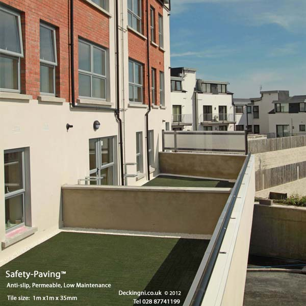 non slip balcony - safety paving -green tiles Gallery Image