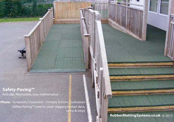 commercial anti slip -  safety paving -Cookstown Primary School Gallery Image