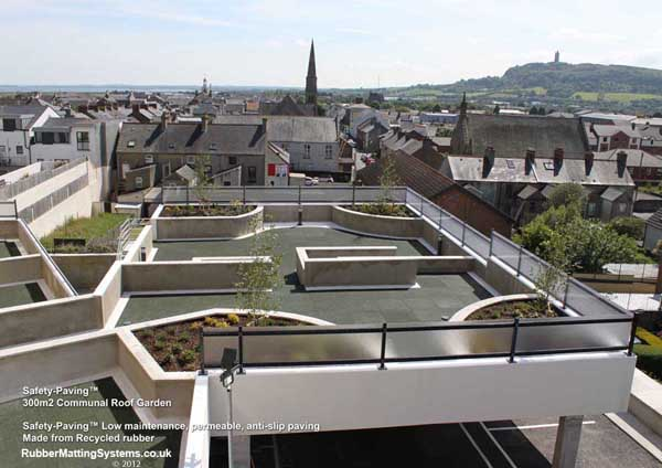 non slip balcony - safety paving -  roof terrace - over car park Gallery Image