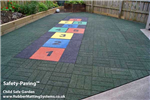 child safe outdoor - rubber safety paving  - hopscotch Gallery Thumbnail