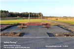 anti slip outdoor - rubber safety paving - grey - oak forest park Gallery Thumbnail