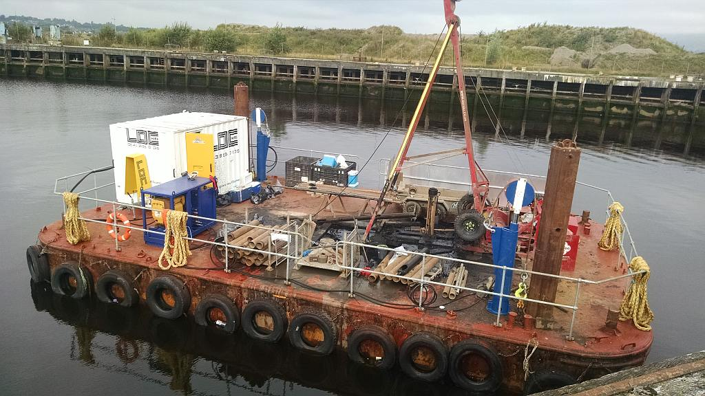 Spudleg barge modified for site investigation works Gallery Image