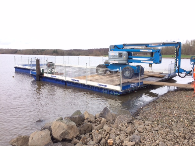 Road transportable pontoon with access system Gallery Image