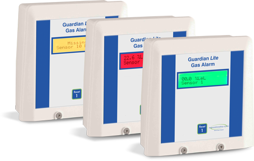 S4S Guardian® Lite Gas detection alarm system. Ideal for small projects of 1-4 channels but can be used up to 64 channels with additional power supply. Gallery Image