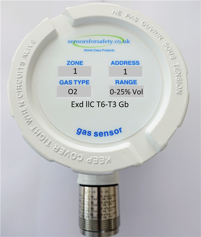 S4S Guardian® Point XDI Zone 1 and Zone 2 gas sensor. 4-20mA and Addressable for use with all S4S Guardian control panels. Gallery Image