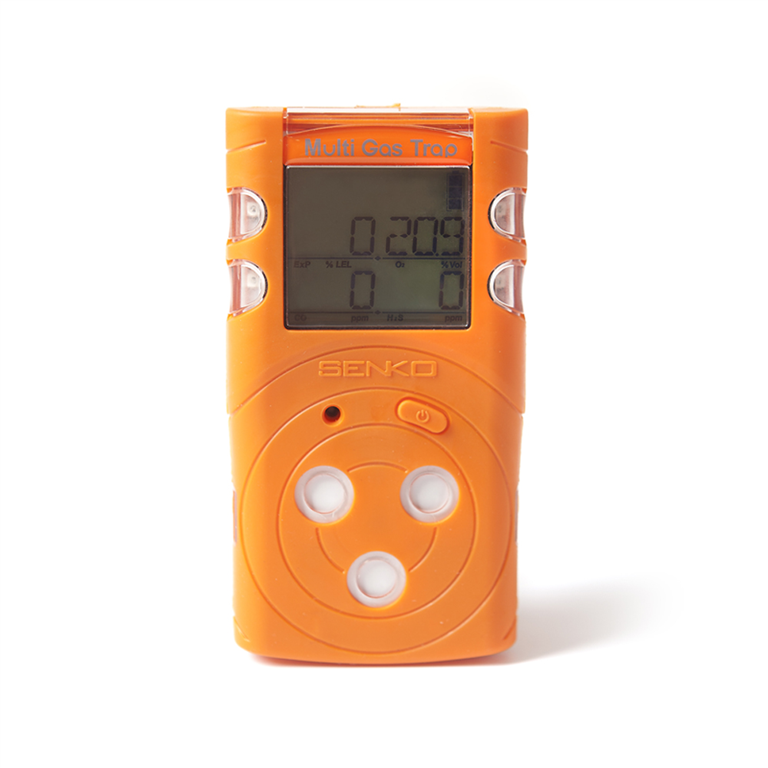 Senko MGT Confined space area gas detector. Sensors for O2, H2S, CO and flammable gases. Battery life up to 2 months before recharge (with Infra-red flammable gas sensor). Gallery Image