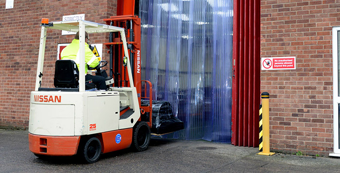 Forklift entering Warehouse PVC strip curtains   Gallery Image