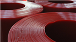 Red welding grade PVC rolls Gallery Thumbnail