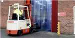 Forklift entering Warehouse PVC strip curtains   Gallery Thumbnail