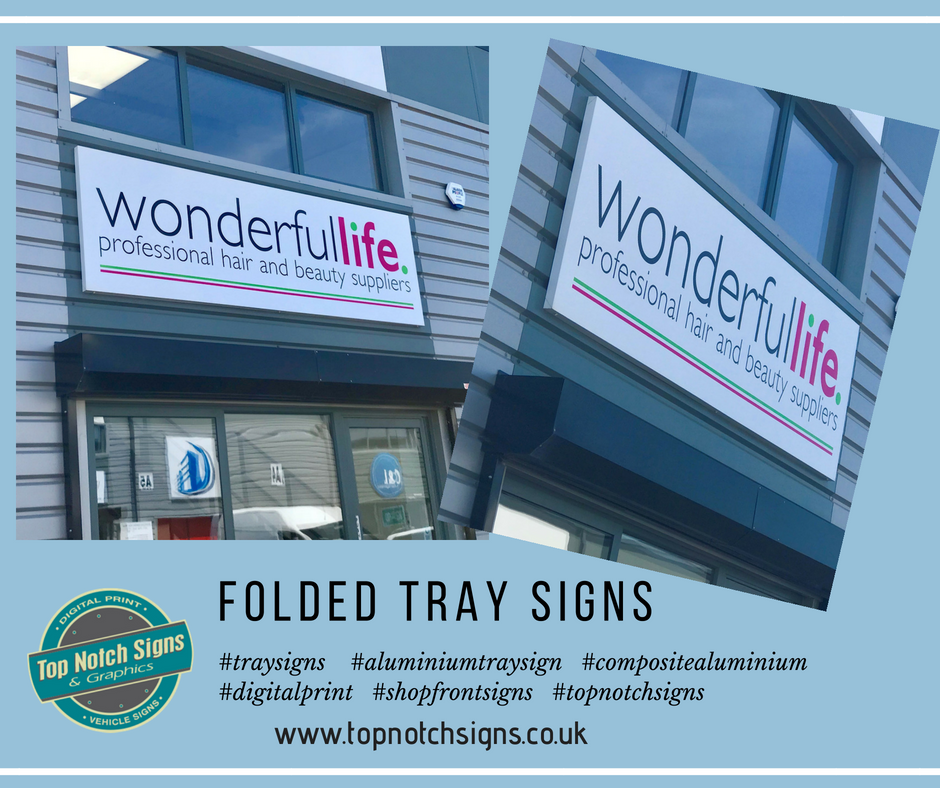 Folded Tray Signs Gallery Image