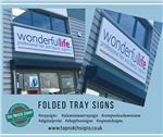Folded Tray Signs Gallery Thumbnail