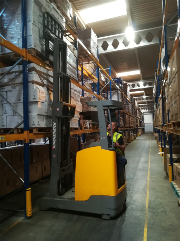 Accredited Reach Truck training in Port Talbot, South Wales. Gallery Image