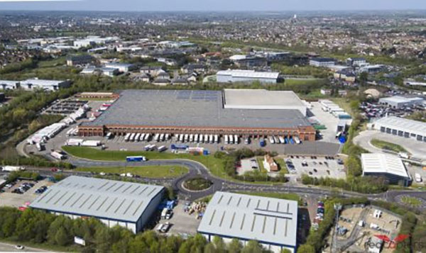Aldi's distribution centre in Essex, from our drone Gallery Image