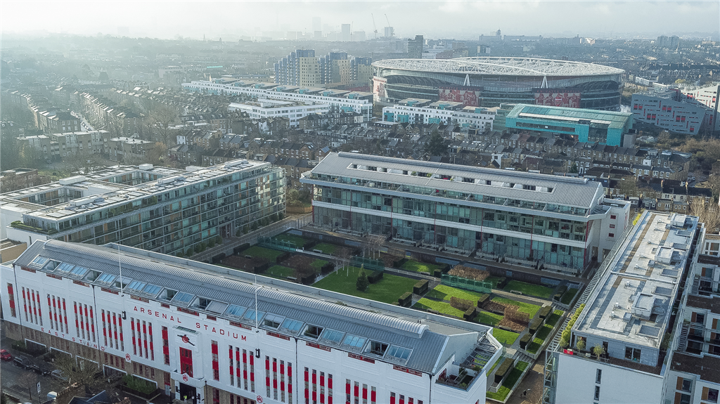Roof survey at the old West Ham Stadium (Highbury), now flats Gallery Image
