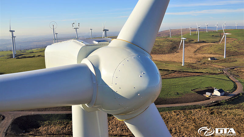 Drone Wind Turbine Inspection - South Wales - Drone Tech Aerospace Gallery Image