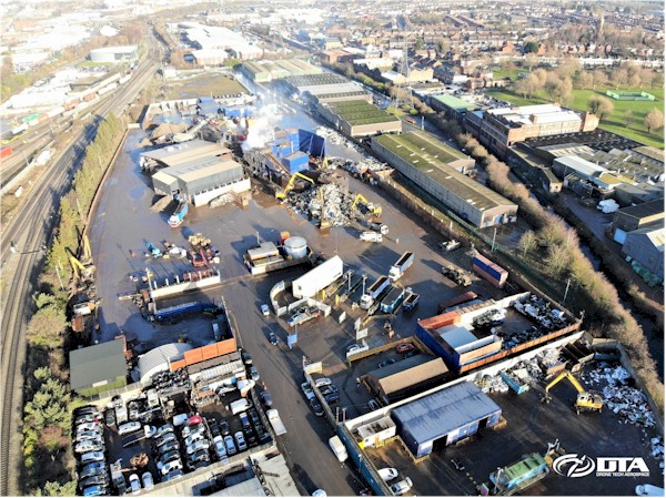 Recycling Site Volume Surveys & Calculations - Birmingham - Drone Tech Aerospace Gallery Image