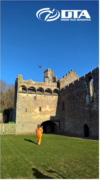 Heritage Site Drone Structural Inspections - Haverfordwest, Pembrokeshire - Drone Tech Aerospace Gallery Image