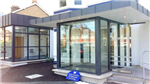 Structural glass entrance porch at Earlswood Vet, Belmont Road Gallery Thumbnail