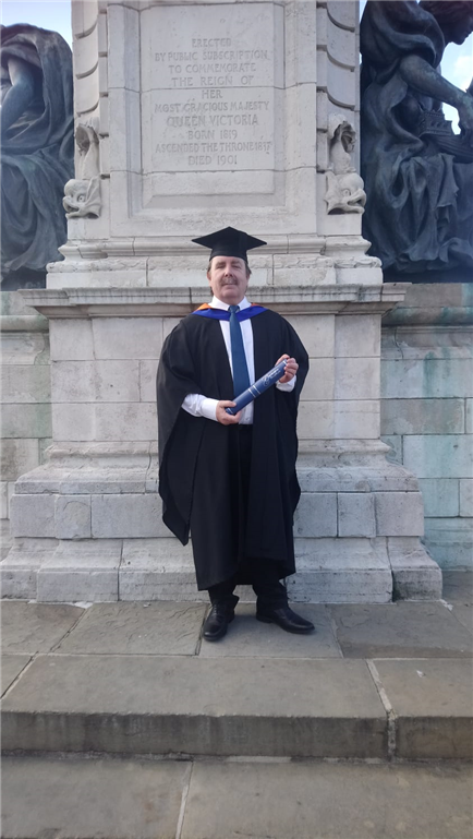 Receiving BSc (Hons)Degree in Construction Management. Gallery Image