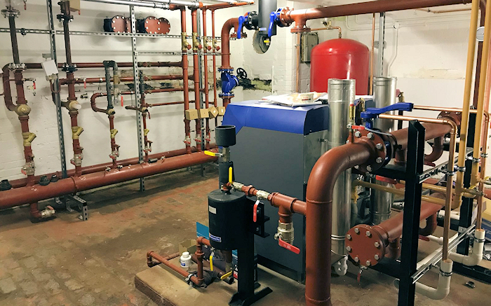 Another boiler room completed. As Mechanical Installation Contractors we still get excited about turning on the heating system.  Gallery Image