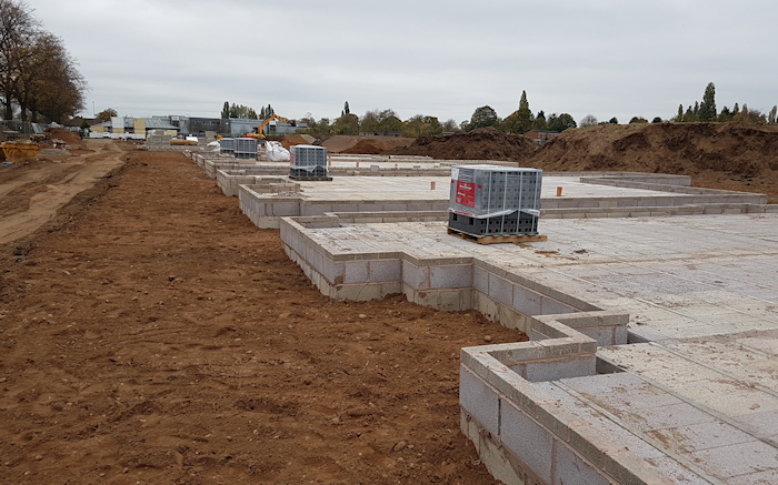As commercial building contractors, this is always an exciting time for us. Brick & blockwork up to DPC we cant wait to get these houses built. Looking for a house builder? See our website for info.  Gallery Image