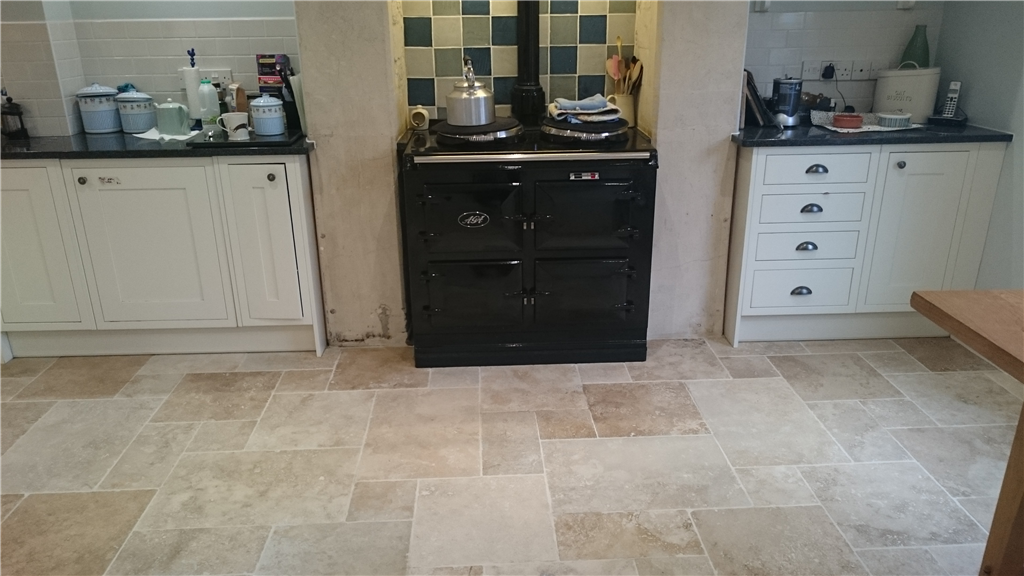 Travertine Kitchen cleaned and Impregnator sealed Gallery Image