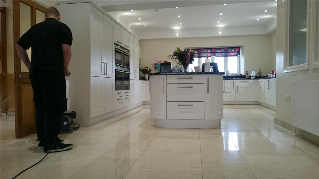 Marble Kitchen cleaned and polished Gallery Image