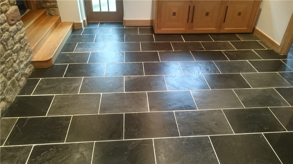 Slate hallway cleaned and resealed Gallery Image