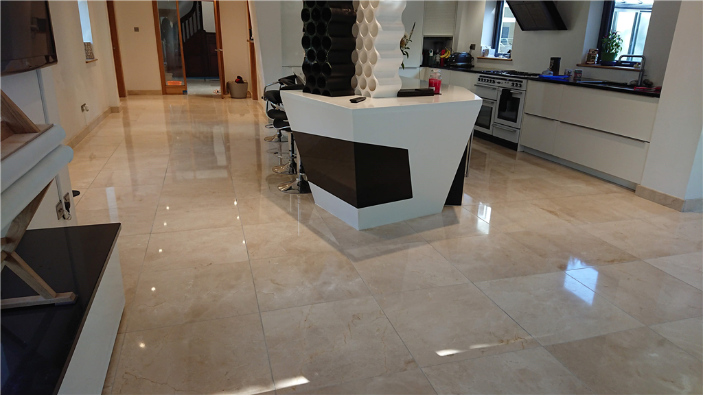 Cleaning and restoring a polish to Marble floors Gallery Image