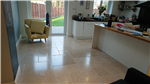 Limestone floor in a Kitchen. Cleaned and Polished Gallery Thumbnail