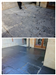 Slate patio after removal of cement residue from laying. cleaned and then sealed Gallery Thumbnail