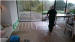 Limestone extension cleaning in progress Gallery Thumbnail