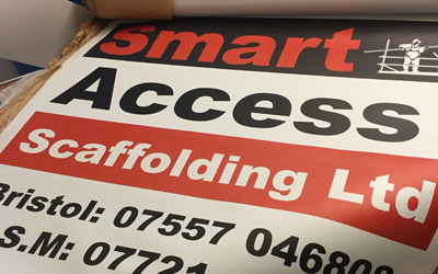 Double sided scaffold banner printed in solvent based UV inks Gallery Image