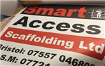 Double sided scaffold banner printed in solvent based UV inks Gallery Thumbnail