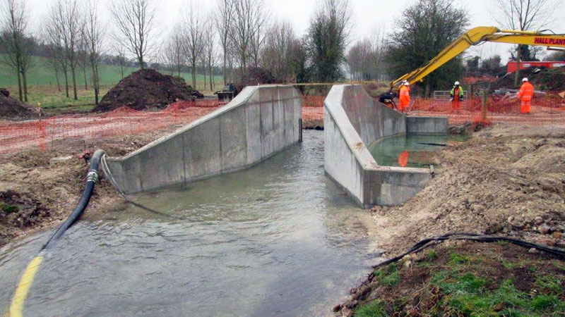 Weir wing walls after pouring Gallery Image