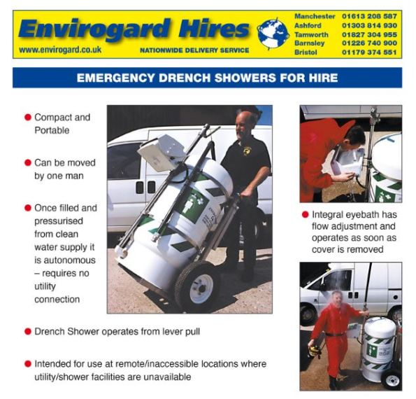 Envirogard Hires Emergency Safety Showers & Eyewash Stations Gallery Image