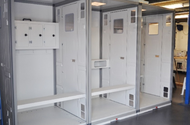 Envirogard Hires Astrocab Modular Decontamination Showers Gallery Image
