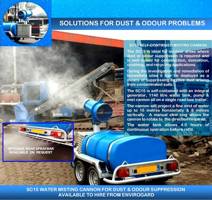 Envirogard Hires Self Contained Water Misting Cannons for Dust Suppression Gallery Image
