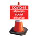 Temporary Cone Mounted Road Sign (cone not included - please purchase separately)  Gallery Thumbnail