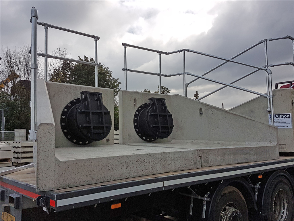 Tidal flap valves fitted to our 2 part headwall  Gallery Image