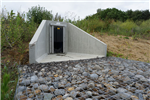 Precast concrete headwall with penstock fitted  Gallery Thumbnail