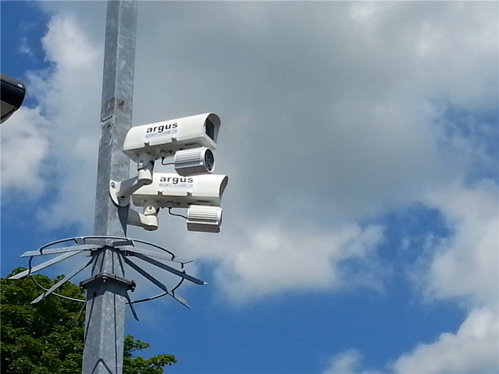 New CCTV cameras installed at an NHS carpark in 2014. Gallery Image