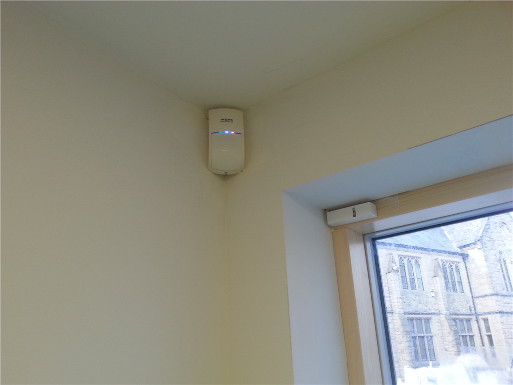 Risco B Ware PIR detector installed in a domestic property in Lancashire in 2016. Gallery Image