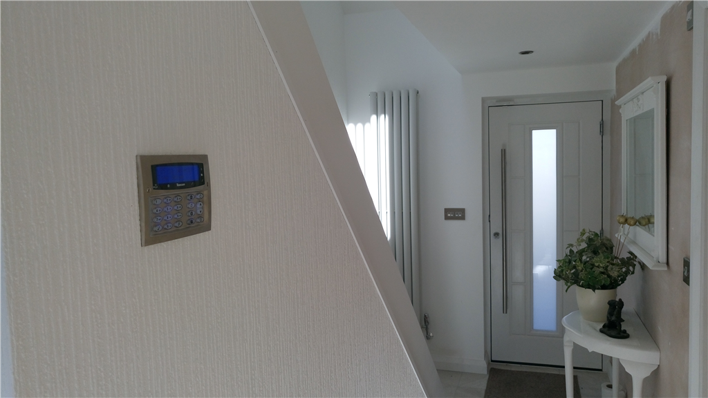 Argus domestic home alarm installation in April 2016, with a Texecom Premier Elite flush alarm keypad. Gallery Image