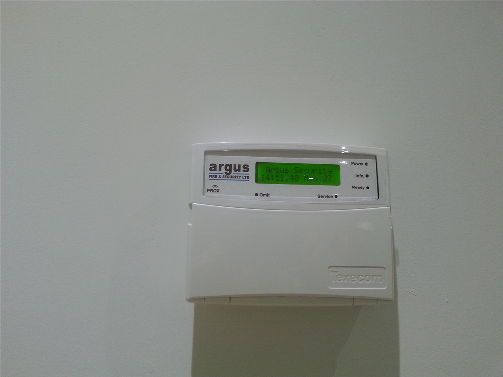 Standard Argus alarm keypad installed at a domestic property in 2016. Gallery Image