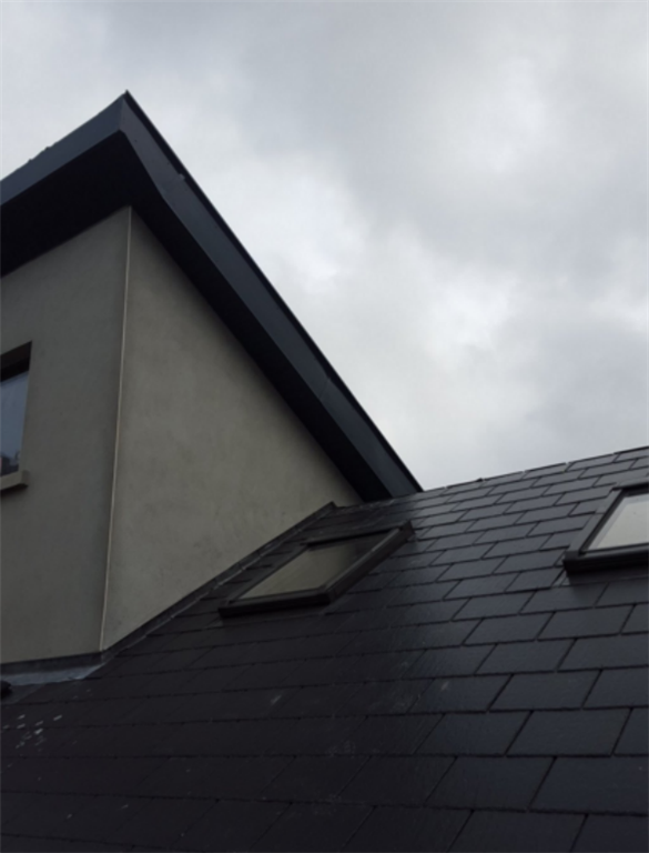 Contemporary and dramatic Anthracite Grey roofline Gallery Image