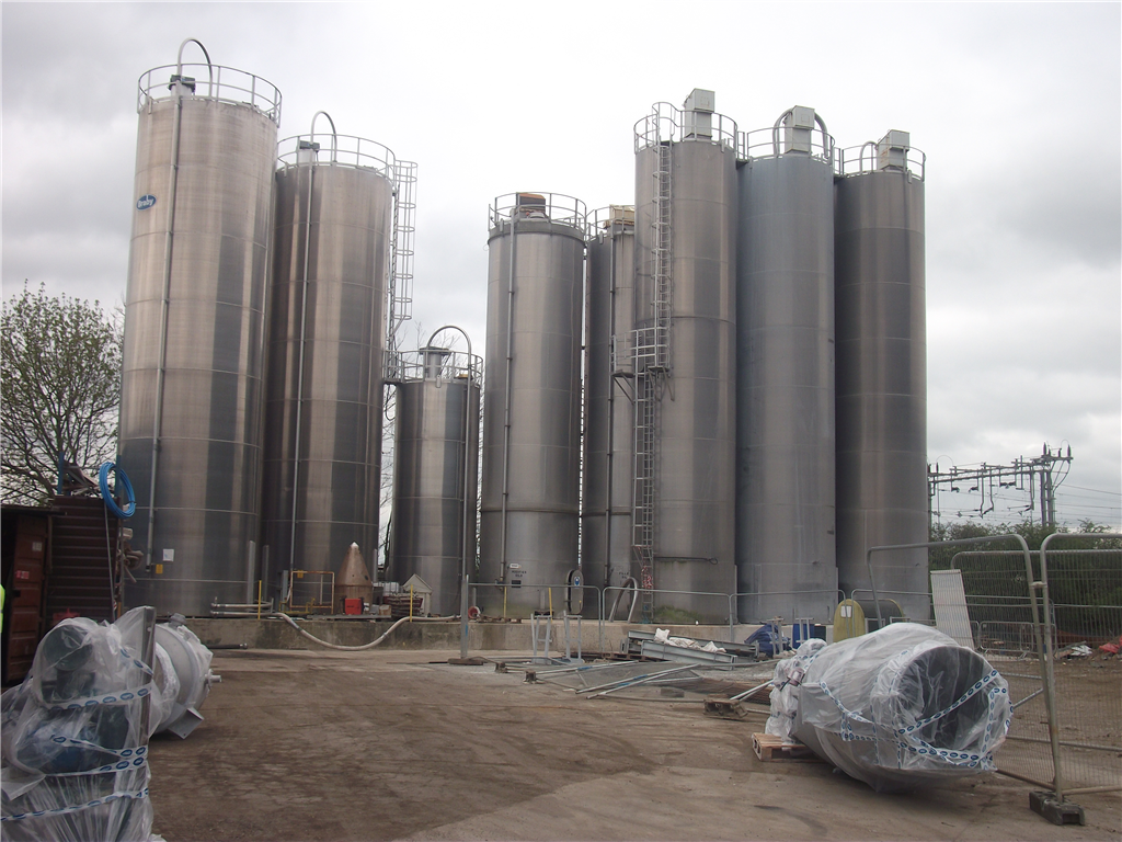 Freefoam has a total of 11 silos to for raw materials to feed the mixing plant Gallery Image