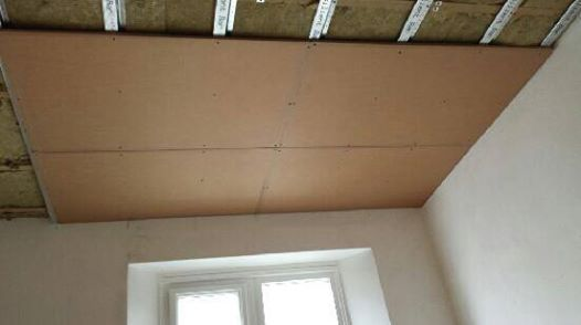 PhoneStar Sound Insulation Boards on Resilient Bars on Ceiling Gallery Image