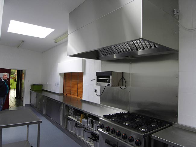 330mm x 250mm Tile Effect Hygienic Wall Panels - Supplied by CFM Ltd for a commercial kitchen Gallery Image
